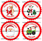 Personalised Christmas Stickers for Gifts / Sweet cones / party bags etc - 01-01