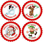 Personalised Christmas Stickers for Gifts / Sweet cones / party bags etc - 05-01