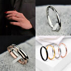 Fashion Men Women Titanium Steel Smooth Wedding Band Rings Couple Ring Jewelry