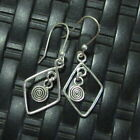 Earrings Hill Tribe Fine Silver Gorgeous Square Hoop Hanging Filigree Chandelier
