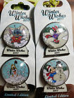 disney pin,4 Christmas LE Winter Wishes 2017 Snow Globes,Pluto,Stitch,mickey