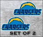 Los Angeles Chargers Sticker Decal Vinyl SET OF 2 Cornhole Truck Car $18.5 USD on eBay