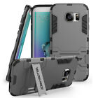 Samsung Galaxy S7 S7 Edge  Armor Hybrid Double Layers Case Cover with Stand