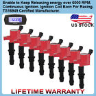 8X Red FD508 Ignition Coil on Plug Pack For Ford Lincoln Mercury V8 5.4L 4.6L US