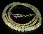 """48.65Crt Natural Ethiopian Welo Fire OPal Beads 3X5Mm 16"""" Nacklace Gemstone 291"""
