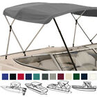 Deluxe Boat Pontoon Bimini Top with Boot / Rear Support Poles / 3 Bow / 4 Bow image
