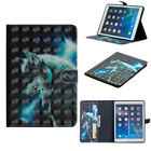 3D Smart Case PU Leather Flip Stand Cover for iPad 9.7 2018 Mini 1 2 3 4 Air 1st