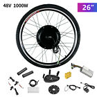 """20""""/26"""" E-bike Front Rear Wheel Motor Electric Bicycle Conversion Kit Cycling <br/> 500W/1000W/LCD✔Brushless Gearless MOTOR✔Aluminum Alloy✔"""