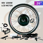 20&quot;/26&quot; Front/Rear Wheel Electric Bicycle E-bike Conversion Kit Cycling Motor <br/> 500W/1000W/LCD✔Brushless Gearless MOTOR✔Aluminum Alloy✔