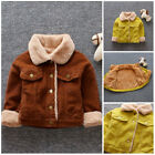 1pc Toddler Kids baby boys fleece jacket thick winter warm coat