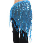 9 Colors Triangle Belly Dance Hip Scarf Wrap Waistband Belt Skirt Dancewear US