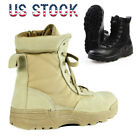 Outdoor Army Tactical Comfort Leather Combat Military SWAT Ankle Boots Duty Work