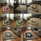 Modern Area Floor Grey Black Blue Green Flatweave Thick Pile Cottage Think Rug