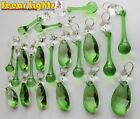 20 DROPLETS CUT GLASS CRYSTALS DROPS BEADS VINTAGE WEDDING CHANDELIER 10 COLOURS