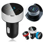 USB Quick Charge Digital LED Screen Car Dual Ports Phone Charger Voltage
