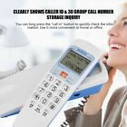 Wall Mount Desk Top Slim Corded Home Phone Landline Telephone Caller ID F/ Home