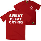 FB Gym Bodybuilding Tee - Sweat Is Fat Crying - Dry Fit Performance T-Shirt