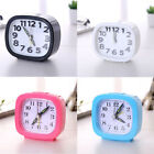 Rectangle Clock Small Bed Compact Travel Quartz Beep Alarm Clock Cute Portable