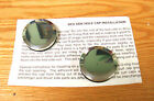 1940 - 1966 CHEVY TRUCK BEDSIDE CURL HOLE POLISHED ALUMINUM CAPS Pair * USA MADE