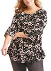 NEW 1X 2X 3X Terra & Sky Peasant On or Off Shoulder Top Womens Plus Size Pick 1