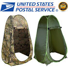 Portable Green Pop Up Tent Camping Beach Toilet Shower Changing Room + Window