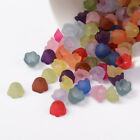 50 BULK Beads Acrylic Flower Assorted Lot 10mm Frosted Wholesale Large Lot