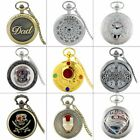 Antique Steampunk Design Quartz Pocket Watch Retro Necklace Pendant Vintage Gift image