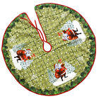 Merry Christmas Tree Skirt Mat for Christmas Holiday Party Decoration 90cm