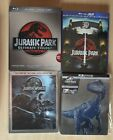 Jurrasic Park Trilogy, Park & World 3D, Fallen Kingdom 4K Steelbook Bluray Lot