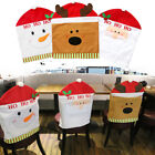 Santa Clause Snowman Deer Hat Chair Back Covers Christmas Table Party Decor Gift