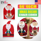 Gift New Mr&Mrs Santa Claus Christmas Chair Back Cover Dinner Table Party Decor