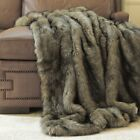 Throw Blanket Tawny Faux Fur Lounge Couch Sofa Bed Accent Decor Wild Mannered image