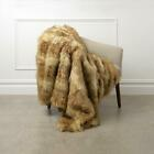 Faux Fur Throw Blanket Lounge Couch Sofa Bed Accent Decor Wild Mannered image