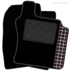 Jeep Cherokee (2002 - 2007) Tailored Black Car Mats & Tartan Logo (R)