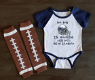 Watching With Grandpa Dallas Cowboys Dem Boys Baby Short Sleeve Bodysuit Outfit