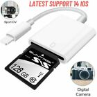 Lightning Ipad Iphone SD Card Camera Reader Tail Adapter USB 2.0 Upgraded Apple