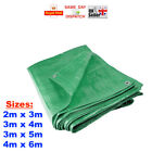4 Sizes: Heavy Duty Green Tarpaulin Waterproof Cover Ground Sheet FAST CHEAP