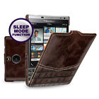 for BlackBerry Passport Silver Edition Genuine Leather Vertical Flip Case Cover