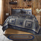COLUMBUS Rustic Lodge Quilt - Choose Size & Accessories - Log Cabin Block Patch image