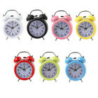 Retro Alarm Clock Round Number Double Bell Desk Vintage Table Home Accessory New