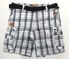 Men's Big & Tall Lee Belted Cargo Shorts (2883352) Blue Conner Plaid