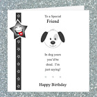 Personalised Birthday Card FJ007 / Adult Male Rude Funny Joke / In Dog Years £2.95 GBP on eBay