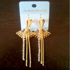 Indian Bollywood Designer Gold Plated Earrings Ethnic Fashion Jewelry v