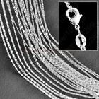 5pcs 16-30inch 925 Silver Flat S Chain Necklace Accessorie Jewelry Necklace