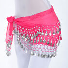 Women Belly Dance Costumes Hip Scarf Wrap Belt Skirt Gold/Silver Coins Beads