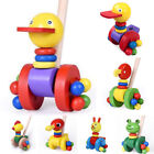 Brand New House Of Wooden Push And Pull Along Toys Duck Cat Cock Frog For Kids