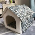 New Pet Dog Cat House Bed Indoor Tent Mat Coushion Removable Raised House Small