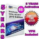 Bitdefender Total Security 2019 - 5 YEARS Activation - LIMITED QUANTITY