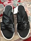 Urbsn Outfitters Black Leather Slip Ons 6
