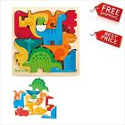 Wooden 3D Dinosaur Puzzle for Toddlers Kids Age 3 +Xmas GIFT Activity toy